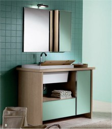 Mobile arredo lavanderia lavatoio stilbagnocasa srl - Mobile lavabo con coprilavatrice ...