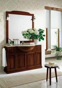 Top in marmo travertino sp.2 cm con lavabo incasso sottopiano in ...