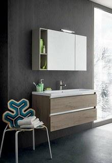 Mobili arredo bagno moderni stilbagnocasa srl for Specchio bagno profilo alluminio