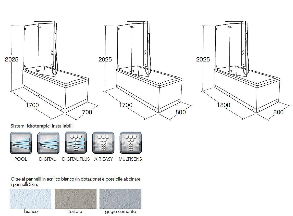 Miscelatore doccia misure acquapura with miscelatore doccia misure simple miscelatore doccia - Misure vasca da bagno ...